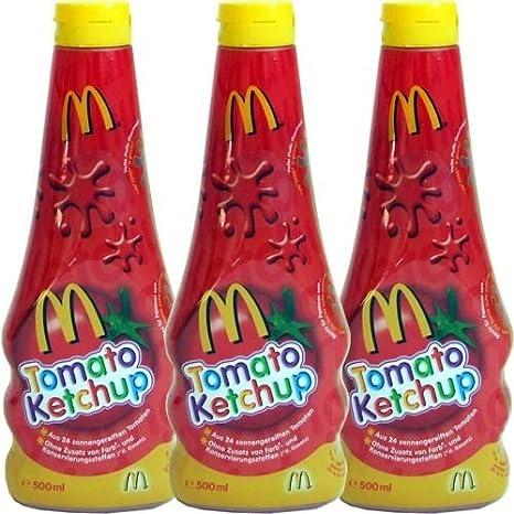 Mc Donalds Tomaten Ketchup 3x500ml Flasche (McDonalds): Amazon.de ...