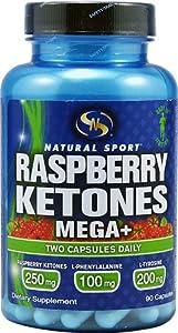 Natural Sport Raspberry Ketones Mega+ -- 90 Capsules by Natural Sport