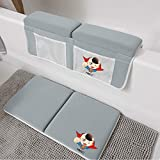 Bath Kneeler Elbow Rest Pad - Larger Soft Kneeling Cushion Mat for Bathtub 1.5inch Thick Non Slip Protect Knees Elbow While Tub Bathing and Bathroom Time for Infant,Baby,Toddler,Kids Shower