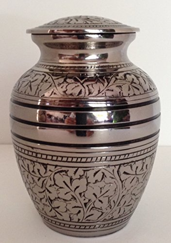 Medium Solid Brass Funeral Cremation Urn, Gorgeous Cremation Urns