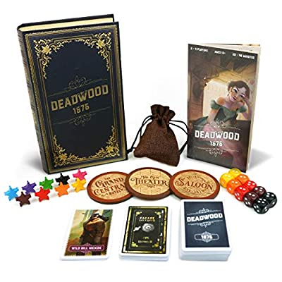 Deadwood 1876 Board Game - Old West Game for Friends and Family - A Game of Cards, Strategy, Deceit, and Luck for 2-9 Players: Toys & Games