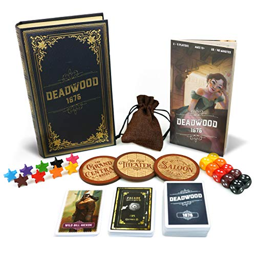 Deadwood 1876 Board Game - Old West Game for Friends and Family - A Game of Cards, Strategy, Deceit, and Luck for 2-9 Players