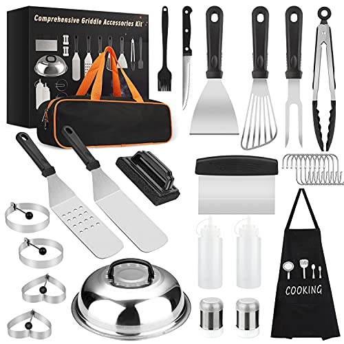 Yekale Griddle Accessories Kit, 31 Pcs Griddle Grill Tools Set for Blackstone and Camp Chef, Professional Grill BBQ…