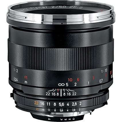 Zeiss 50mm f/2 0 Makro Planar ZF Manual Focus Macro Lens for The Nikon F  AI-S Bayonet SLR System