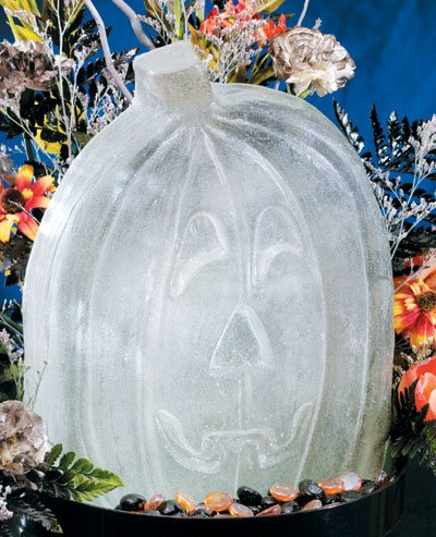 Reusable Pumpkin Ice Sculpture Mold (Dry Ice Halloween Ideas)