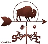 Hand Made BISON BUFFALO GARDEN Stake Weathervane ~NEW~
