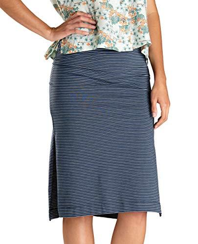 Toad&Co Women's Samba Paseo Midi Skirt, Deep Navy 230 Stripe, M