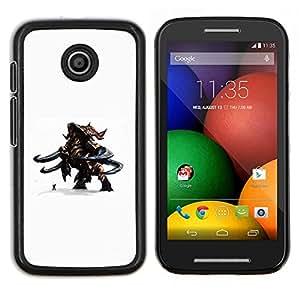LECELL--Funda protectora / Cubierta / Piel For Motorola Moto E -- Monster magia contra hombre --