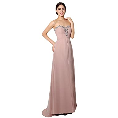 KA Beauty Womens Crystal Beading Bridesmaid Dresses A-line Sweetheart Prom Dresses UK 6