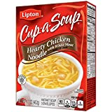 Lipton Cup-A-Soup Instant Soup Mix, Hearty Chicken Noodle 1.7 oz, Pack of 12