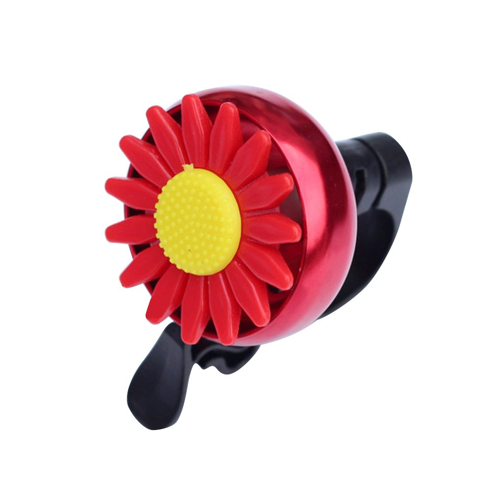 VORCOOL Sunflower Shaped Kids Children Bike Bicycle Cycling Bell Handlebar Ring Ringer Horn (Red)