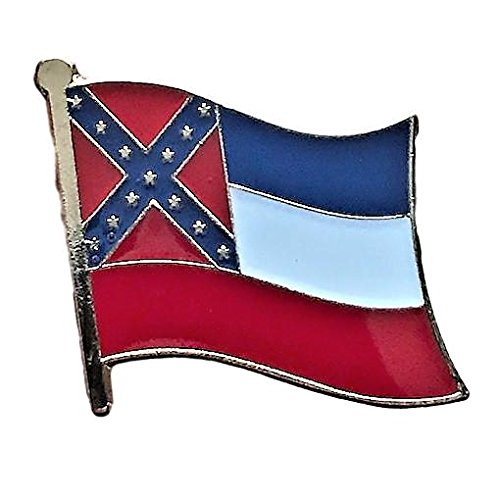 "Backwoods Barnaby Mississippi Flag Pin/U.S. State Lapel Pins Collection (MS, 0.75"" x 0.75"")"