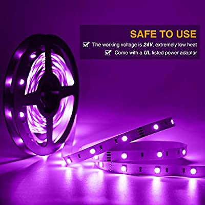 Onforu 50ft RGB LED Strip Lights Kit, 15m Flexible Color Changing Lights Strip, 450 Units 5050 RGB LED Rope Lights with 24V Power Supply for Party, Living Room, Non-Waterproof