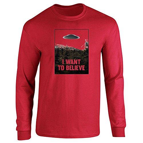 Pop Threads - Camiseta de manga larga - para hombre Rosso