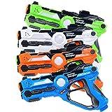Costzon Laser Tag Set, Infrared Battle Shooting Games Laser Tag Blasters, Indoor