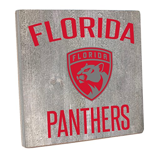"Rustic Marlin Designs NHL Florida Panthers,Gray, Vintage Square, 12"" H X 12"" W"