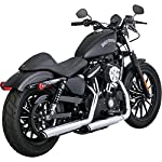 Vance-Hines-Twin-Slash-Rounds-Slip-On-Exhaust-Chrome-3-for-14-19-Harley-XL883N