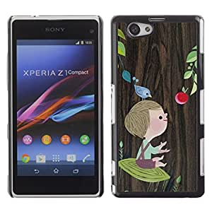 Impact Case Cover with Art Pattern Designs FOR Xperia Z1 Compact D5503 Boy Mother Mom Mommy Tree Drawing Betty shop