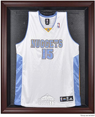 Denver Nuggets Mahogany Finished Logo Jersey Display Case by Sports Memorabilia