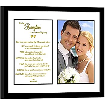 Amazon wedding gift for daughter heartfelt poem from daughter wedding gift from parents touching wedding gift to daughter from mom and dad junglespirit Image collections