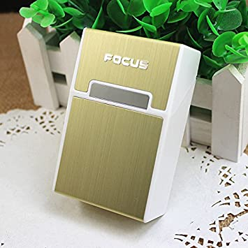 FOCUS-Marco caja 20 cigarrillos, color dorado: Amazon.es ...