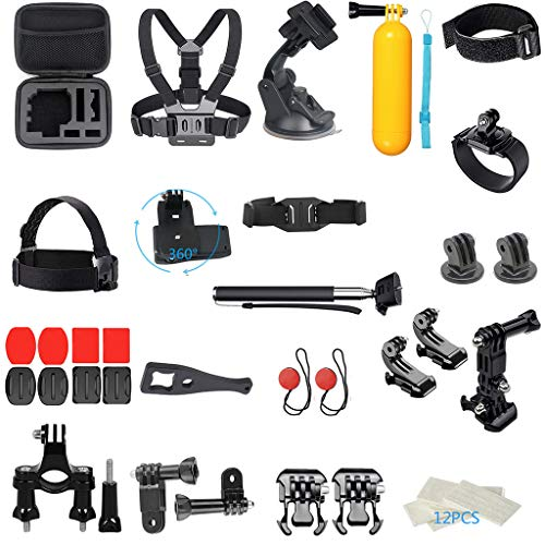 Action Camera Accessories Kit for DJI OSMO Action for GoPro Hero 7 Accessory Bundle Set for Action Camera Accessory 41 In 1 Bundle Set Starter Suit