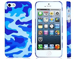 Camouflage Print Protective Case for iPhone 5 (Blue)