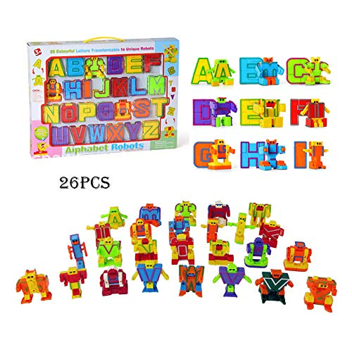 Odowalker Alphabet Robot Toy Action Figures Early Education ABC 26 Pieces 2