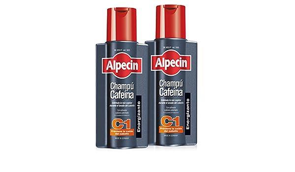 Alpecin Champú Cafeína C1, Champú anticaída - 2 x 250ml=500ml: Amazon.es: Belleza