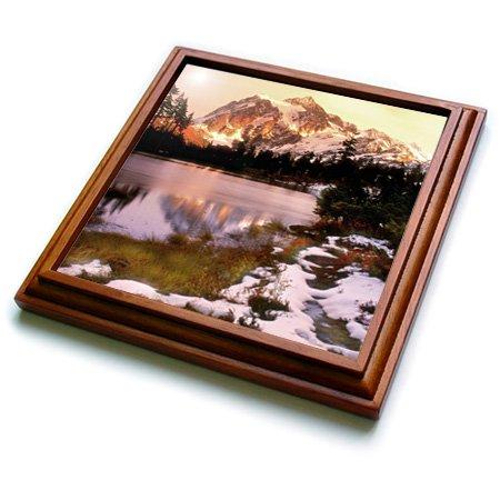 3dRose trv_96569_1 Mount Shuksan in Mt Baker National Park, Washington US48 RDU0004 Richard Duval Trivet with Ceramic Tile, 8 by 8