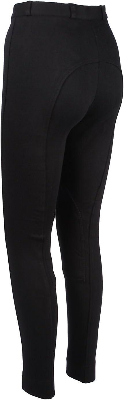 Pantalones de Equitación Jodphurs de Tela Suave y Elástica para Dama - Color Negro