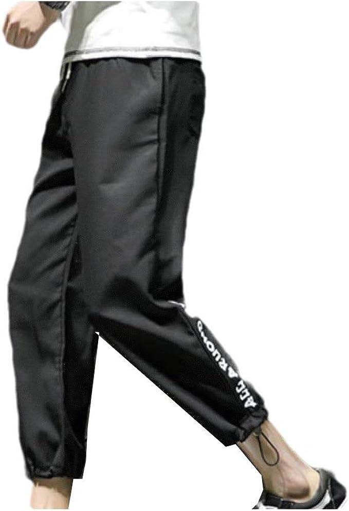 Beeatree メンズリネンオーバーサイズテーパードローストリングハーレムパンツカジュアルパンツ