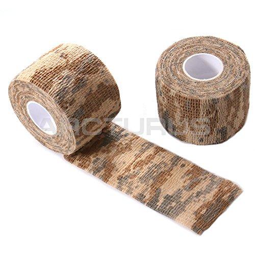 Arcturus Camo Gun Rifle Fabric Wrap - Extra Long 36 ft Roll - Camouflage Multi Use Reusable Fabric Wrap - Digital Desert Desert Camouflage Fabric