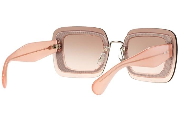Amazon.com: Miu Miu anteojos de sol MU 01RS ueu1e2 ...