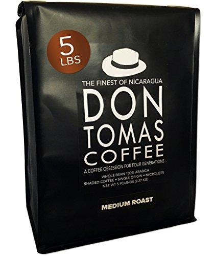 5 LB Medium Roast Coffee Beans Don Tomas Nicaraguan Coffee - Rainforest Alliance Certified Farm