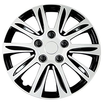 Pilot WH547-14S-B Universal Fit Premier Toyota Camry Style Silver 14 Inch Wheel Covers - Set of 4: Automotive