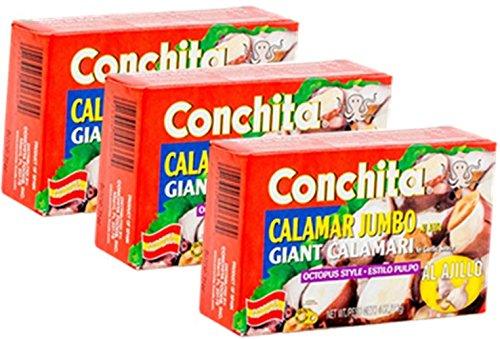 Conchita Giant Calamari (Octopus Style) in Garlic Sauce 4 oz Pack of 3