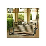 International Caravan Tropico Iron Patio Porch Swing in Black