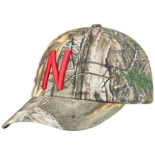 new concept 529c3 0960c Top of the World NCAA Nebraska Cornhuskers Men s Real Tree Camo Adjustable  Icon Hat, Real Tree