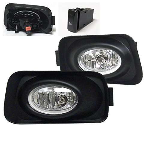 ZMAUTOPARTS Acura Tsx Base Sedan Bumper Driving JDM Chrome Fog Lights Lamps ()