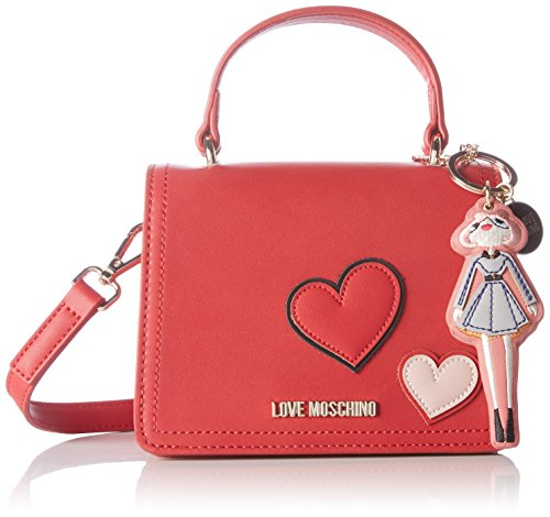 Love Moschino Borsa Calf Pu, Sacs baguette Rouge (Red)