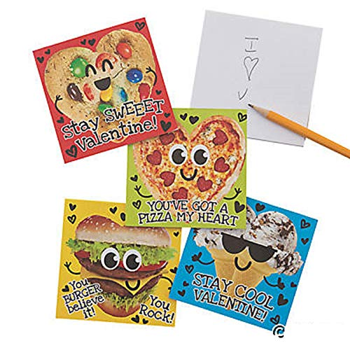 Valentine Food Notepads Classroom Exchange Party Favors For Kids 24 Count