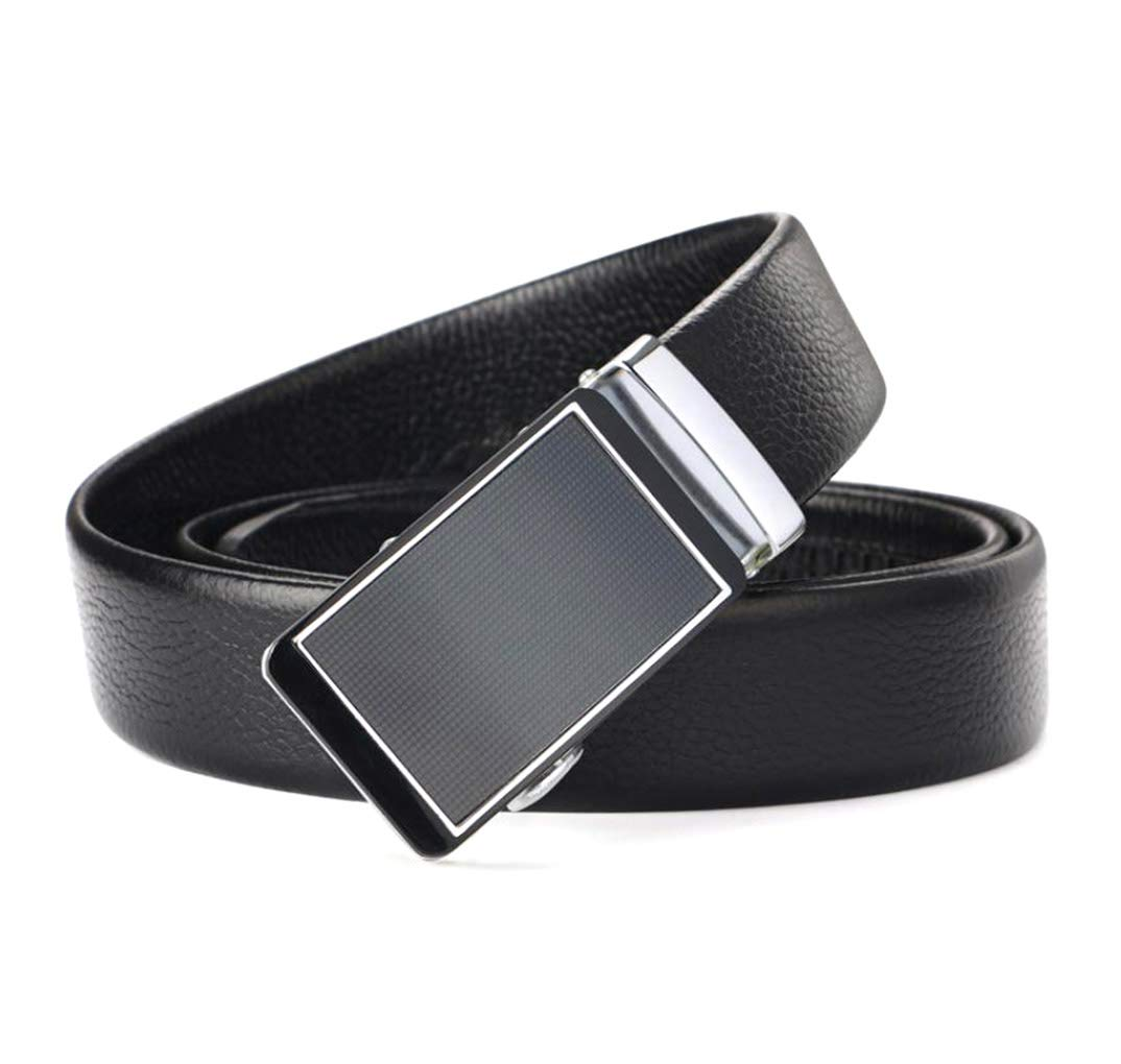 WL Belt Mens Leather Automatic Buckle Belt Business Belt Casual Belt Double-Sided First Layer Leather Belt
