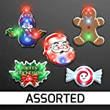 Christmas Flashing Pins Assorted Pack (Set of 5)