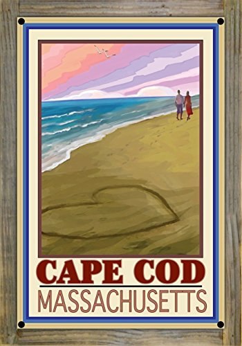Northwest Art Mall Cape Cod Love On Coast Metal Print on Reclaimed Barn Wood by Joanne Kollman (12