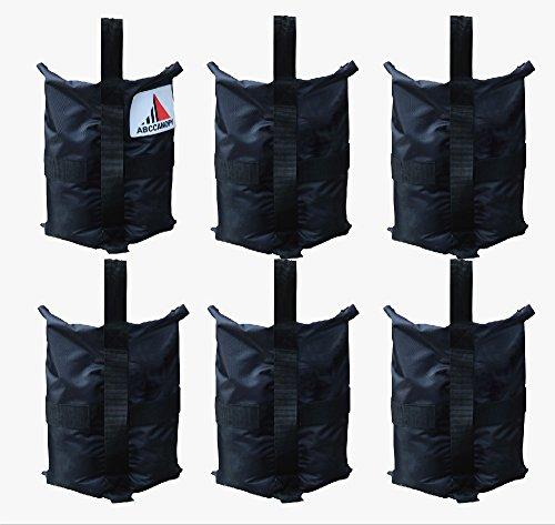 (ABCCANOPY Premium Instant Shelters Weight Bags - Set of 6-40lb Capacity per Bag)