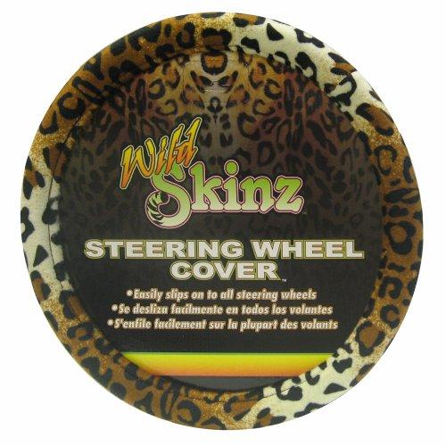Plasticolor 006706R01 Leopard Wild Skinz Steering Wheel (Leopard Steering Wheel Cover)
