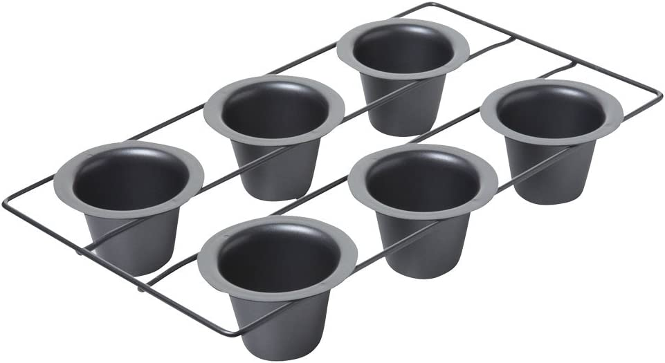 Amazon Com Chicago Metallic Professional 6 Cup Popover Pan 16 Inch By 9 25 Inch Kitchen Dining