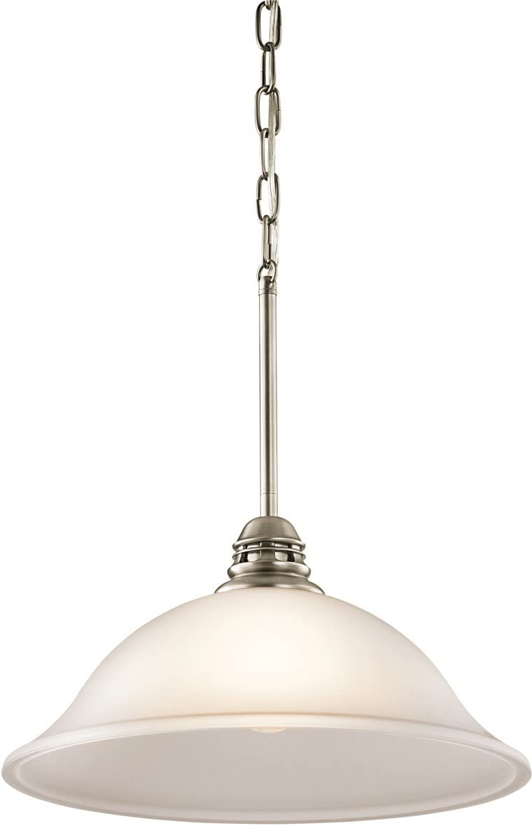 Kichler 42071APW Stafford Pendant, 1 Light Incandescent 150 Watts, Antique Pewter