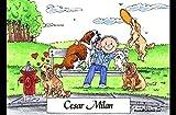 Personalized Friendly Folks Cartoon Side Slide Frame Gift: Dog Lover - Male Great for animal rescue, pet sitter, dog walker